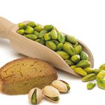 Kaal and green pistachio kernel shopping center